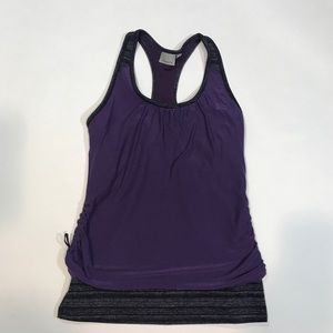 Athleta Royal Pigeon 2 layer tank 919068 Sz M